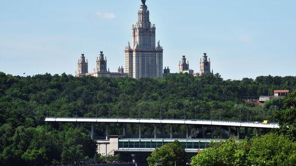 Мост Лужники через Москву-реку