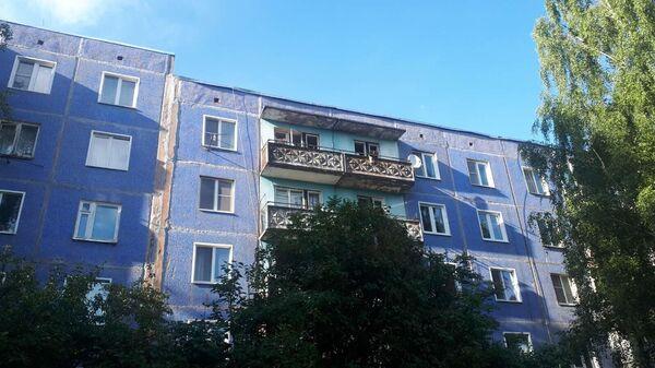 Жилой дом в Кирове, где произошел хлопок газовоздушной смеси