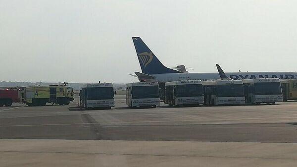 Аварийная посадка самолета летевшего из Берлина в Салониках