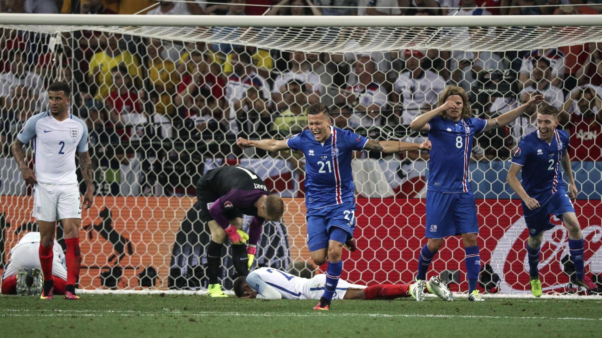 Футбол. Чемпионат Европы - 2016. Матч Англия - Исландия - РИА Новости, 1920, 08.07.2020