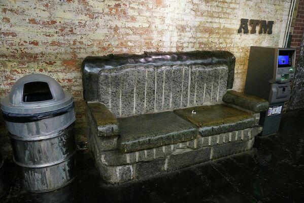 Скамейка в Нью-Йорке, США