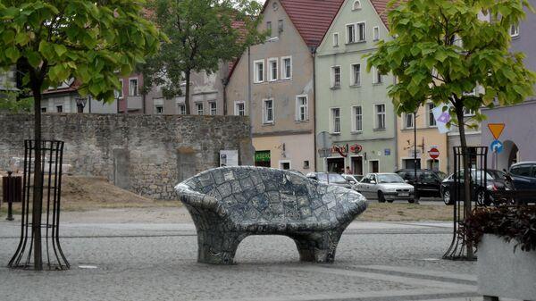 Скамья в Болеславце, Польша