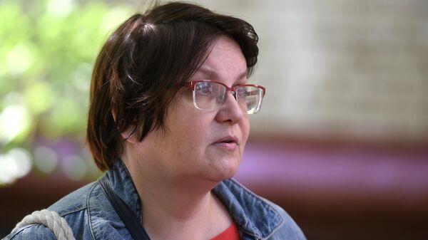 Московский муниципальный депутат Юлия Галямина, в квартире которой проходит обыск. 9 июля 2020