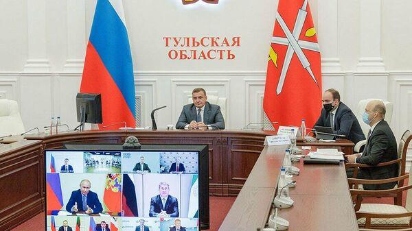 Губернатор Тульской области Алексей Дюмин на заседании наблюдательного совета АСИ
