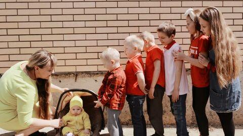 Валентина с детьми