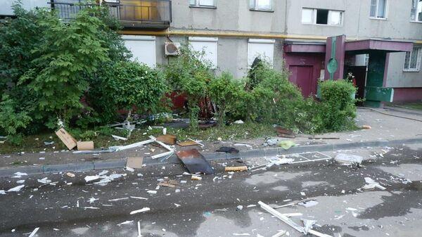 На месте взрыва бытового газа в жилом многоквартирном доме в Нижнем Новгороде