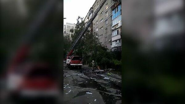 Последствия взрыва газа в жилом доме в Нижнем Новгороде. Кадры МЧС