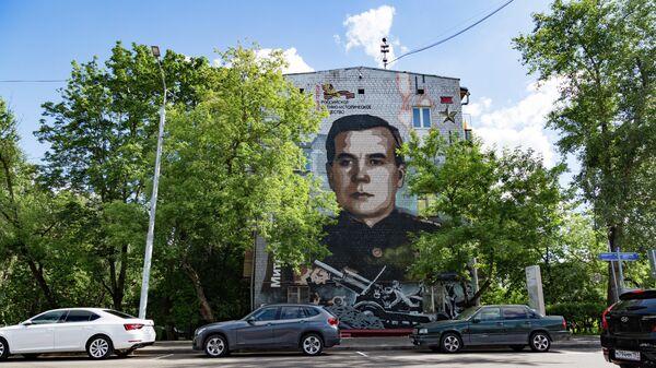 Граффити с военачальником Митрофаном Неделиным в Москве