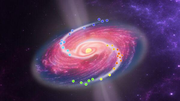 Астрономы впервые увидели спиральные потоки вещества вокруг звезды