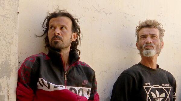 Боевики, задержанные вблизи города Тадмор в Сирии. Скриншот видео