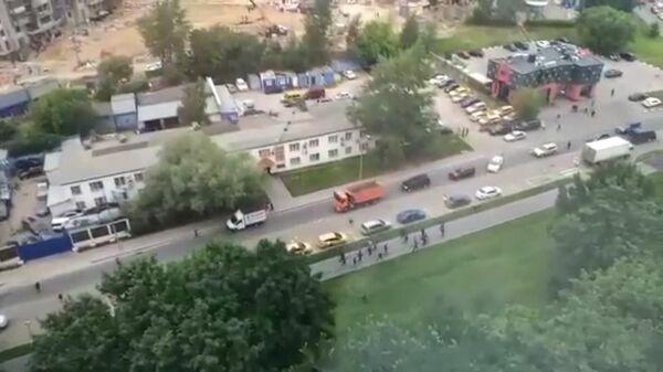В Москве произошла массовая драка рабочих