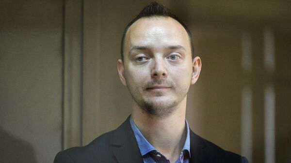 Иван Сафронов во время заседания в Мосгорсуде, на котором рассматривается апелляционная жалоба на арест