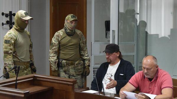 Обвиняемый в захвате заложников в Луцке Максим Кривош во время избрания меры пресечения в Луцком районном суде