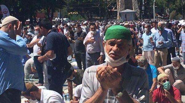 Первый намаз за 86 лет в Айя-Софии в Стамбуле