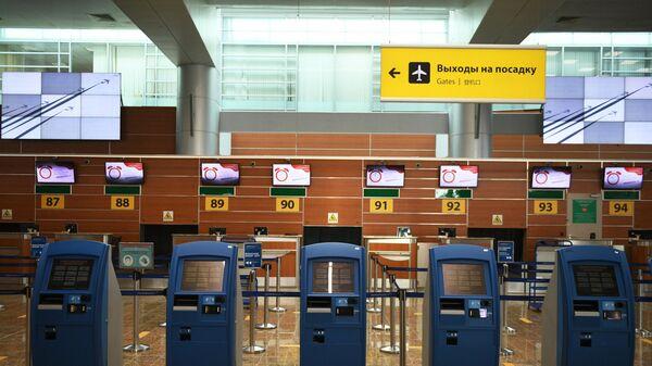 Регистрационные терминалы в аэропорту Шереметьево