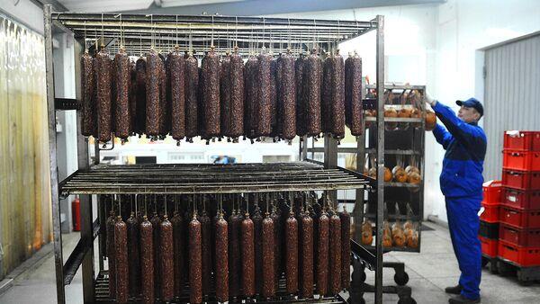 Готовая мясная продукция на мясоперерабатывающем комбинате