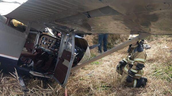 Частный легкомоторный самолет, потерпевший крушение у поселка Стрельцово под Калининградом