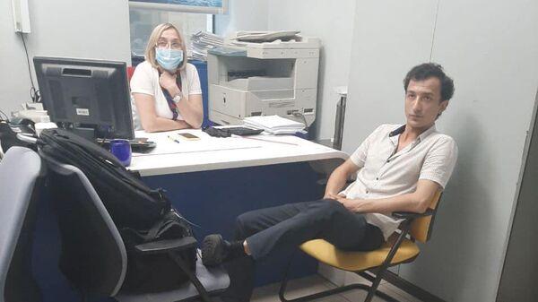 Человек, предположительно, захвативший заложников в бизнес-центре Леонардо в Киеве