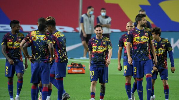 Футболисты каталонского суперклуба
