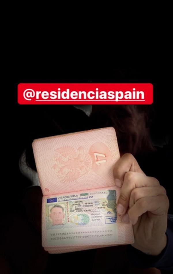 Панин похвастался видом на жительство в Испании