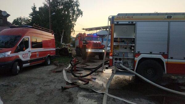 В Самаре загорелись десять жилых домов