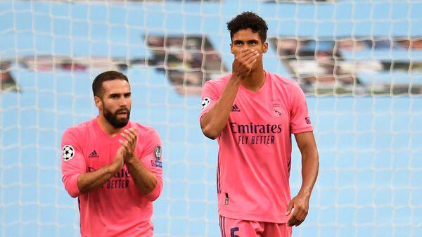 Защитник мадридского Реала Рафаэль Варан в матче Лиги чемпионов
