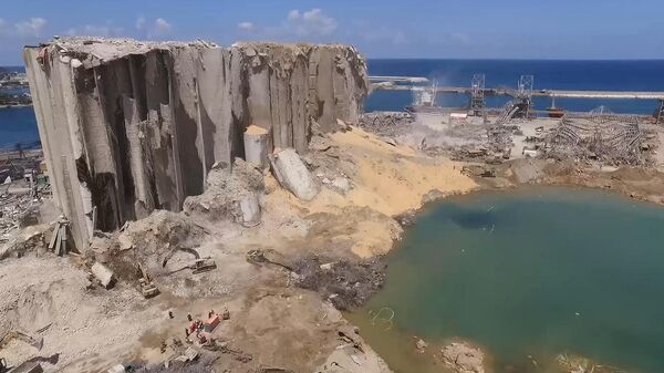 Последствия взрыва в порту Бейрута