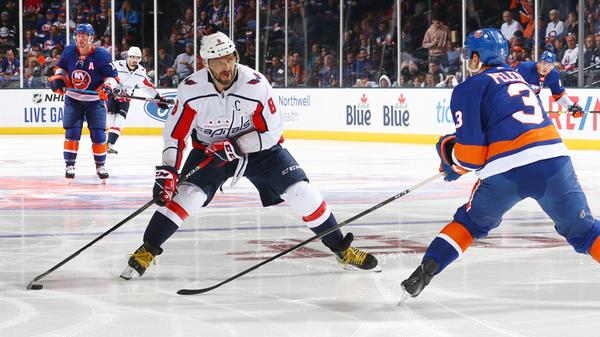 Хоккеист Вашингтон Кэпиталз Александр Овечкин в матче НХЛ
