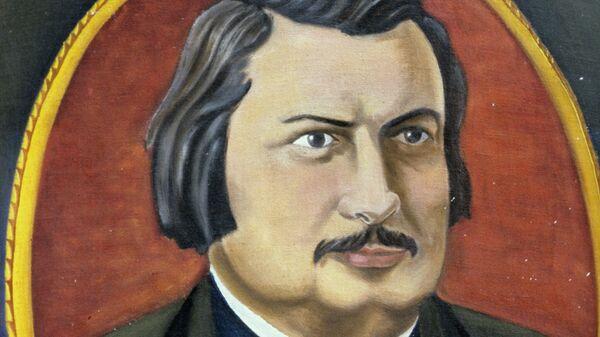 Портрет Оноре де Бальзака, выполненный местным художником - почитателем таланта писателя (село Верховня, Житомирская область).
