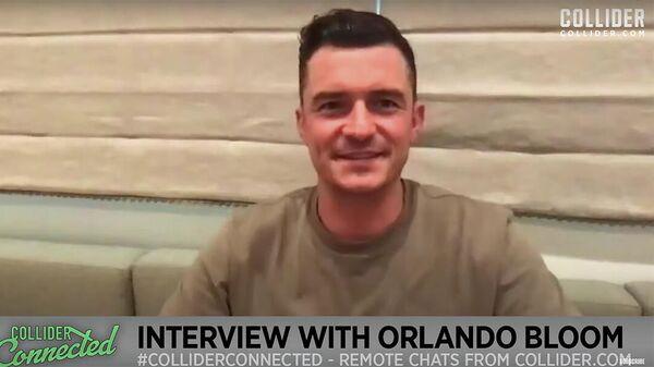 Кадр интервью Орландо Блума, опубликованного на YouTube-канале Collider