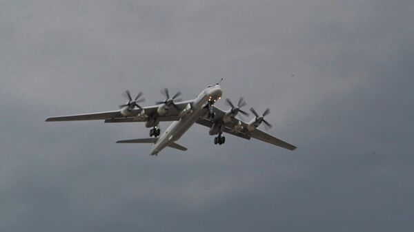 Первый полет глубокомодернизированного ракетоносца Ту-95МСМ. Стоп-кадр видео