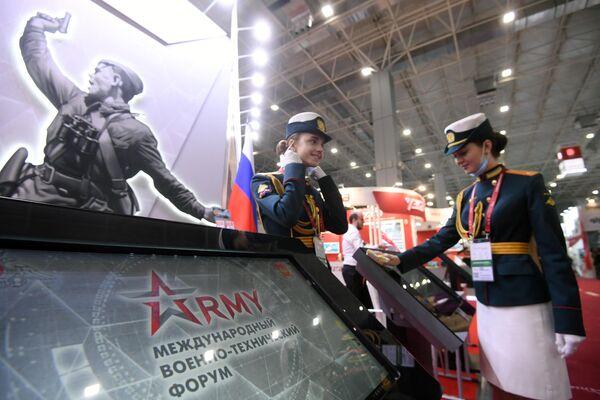 На Международном военно-техническом форуме Армия-2020 в конгрессно-выставочном центре Патриот