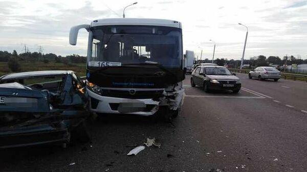 Последствия ДТП на Шакшинской дороге в Уфе