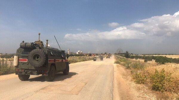 Совместное патрулирование трассы Алеппо-Латакия в Идлибе