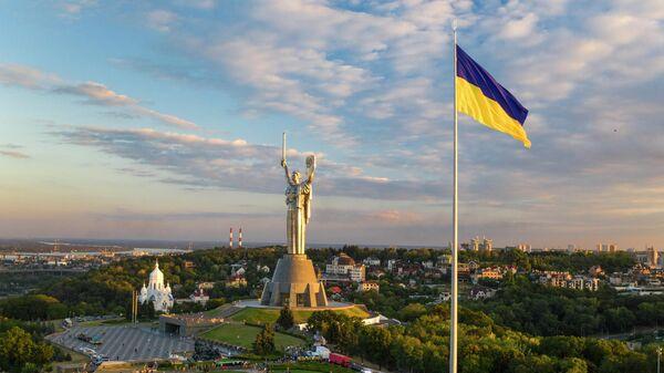 Самый большой флаг Украины в Киеве