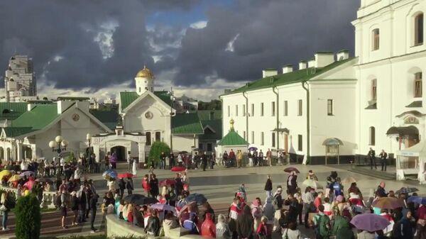 Акция протеста оппозиции на площади Свободы в Минске