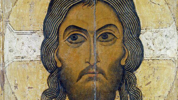 Репродукция иконы Спас Нерукотворный. Начало XII века