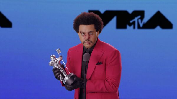 The Weeknd на церемонии вручения премии MTV Video Music Awards в Нью-Йорке
