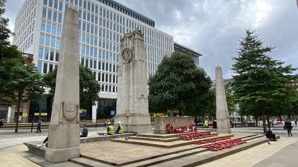 Открытие мемориала советским солдатам в Манчестере