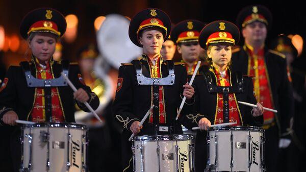 Сводный оркестр ГБОУ школа №1770 на XIII Международном военно-музыкальном фестивале Спасская башня