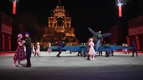 Центральный пограничный ансамбль Федеральной службы безопасности Российской Федерации выступает на XIII Международном военно-музыкальном фестивале Спасская башня