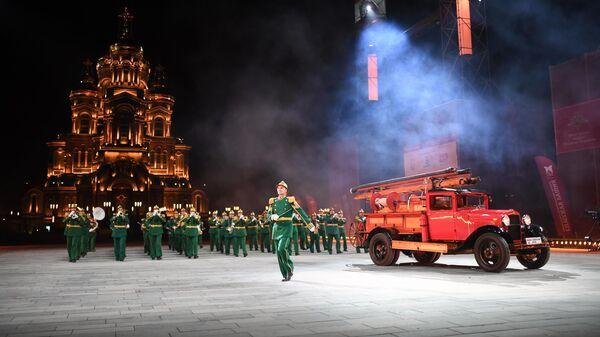 Показательный оркестр МЧС России на XIII Международном военно-музыкальном фестивале Спасская башня