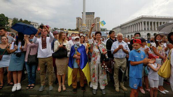 Люди на улице Киева