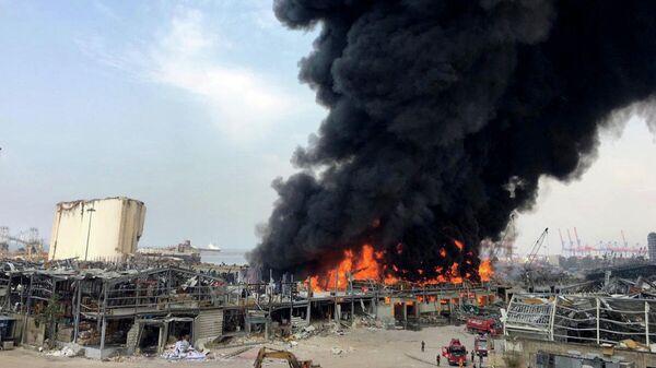 Пожар в порту Бейрута