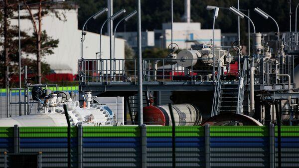 Часть газопровода Северный поток-2, расположенная в Любмине, Германия