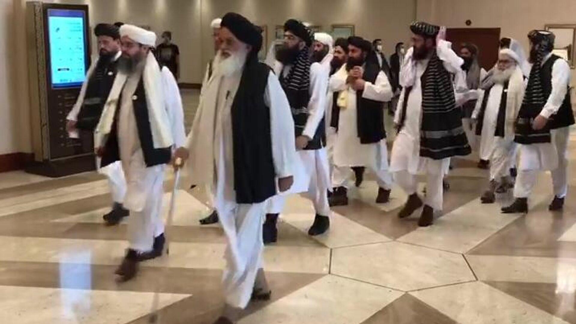 Делегация движения Талибан (запрещено в РФ), прибывшая на переговоры с правительством Афганистан - РИА Новости, 1920, 29.01.2021