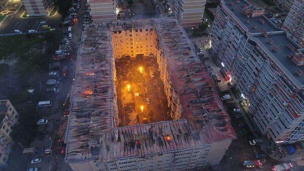 Ликвидация пожара в Краснодаре