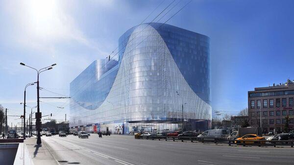 Проект офисно-торгового центра в рамках ТПУ Нагатинская