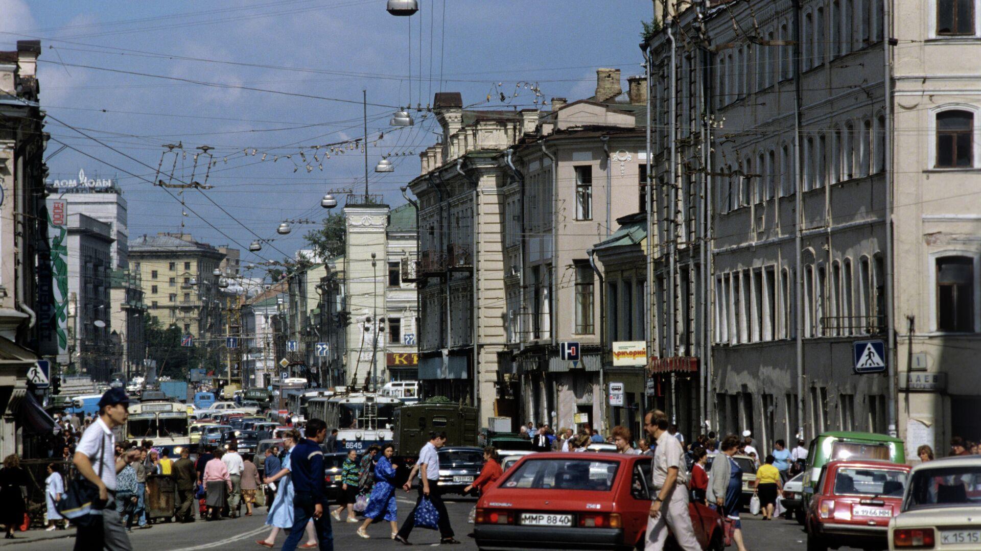 Улица Сретенка в Москве - РИА Новости, 1920, 17.09.2020