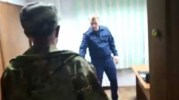 Задержание подозреваемого в поджоге в Красноярском крае
